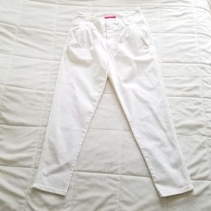 ALICE & OLIVIA 4 White Ankle High Waist Pants Crop